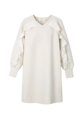 ★Frill Detail Jersey Dress