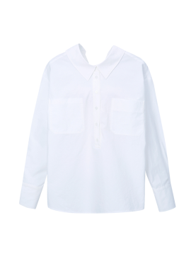 [단독20%] Button Detail Long Cuffs Blouse