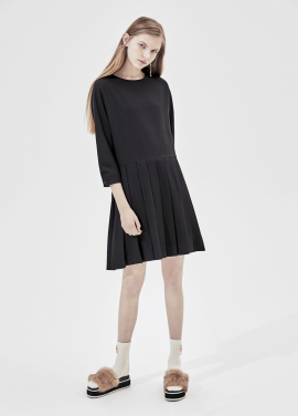 [단독20%] Short Sleeve Pleats Dress