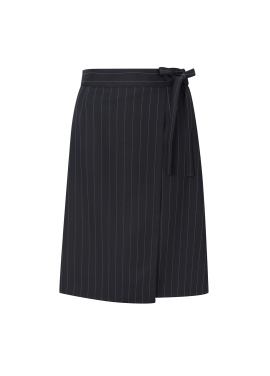 Pin Stripe Midi Wrap Skirt