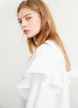 [S/S 20%할인/한은정 착용] Round neck shirt White