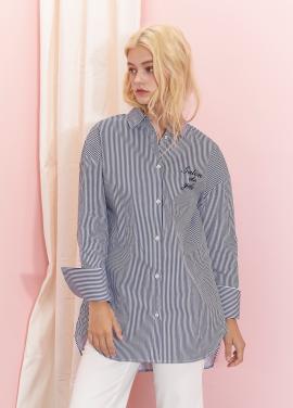 [SALON DE YOHN] Cuffs Point Stripe Shirt