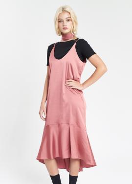 [SALON DE YOHN /20%]  Silky Slip Dress_Pink