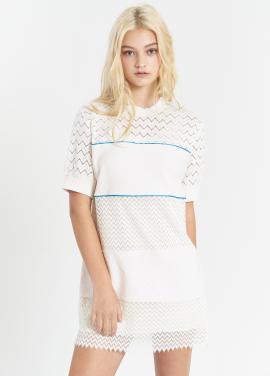 [SALON DE YOHN/20%] Lace Stripe Dress_Ivory
