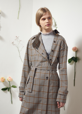 [VEMVER/10%] CHECK TRENCH COAT