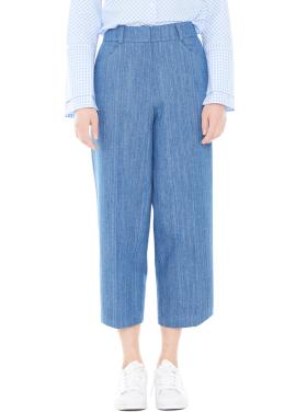 [MILLOGLEM/40%]denim wide pants - blue
