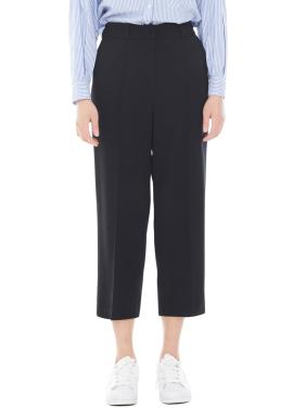[MILLOGLEM/40%]wide leg pin tuck trouser