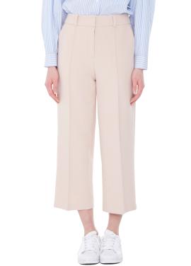[MILLOGLEM/40%]wide leg pin tuck trouser - pink