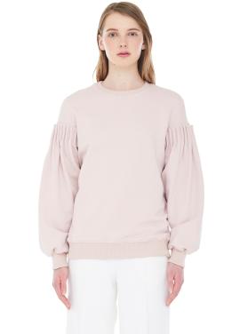 [MILLOGLEM]bud sleeve sweatshirt - pink