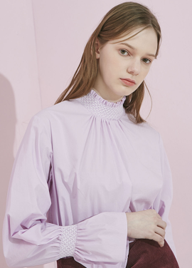 [ADDSENSE/50%SALE]BASIC SMOKE BLOUSE_PURPLE