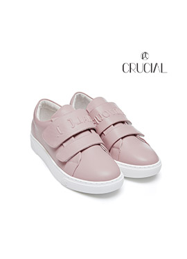 [CRUCIAL] EMOTION VELCRO SNEAKERS_PINK