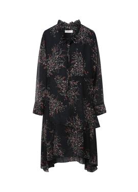★ Wrap Style Flower Pattern Dress [주문폭주]