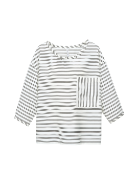 Stripe Pocket Blouse