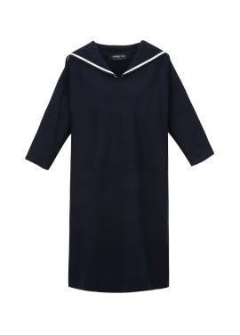 Sailor Collar Knit Dress
