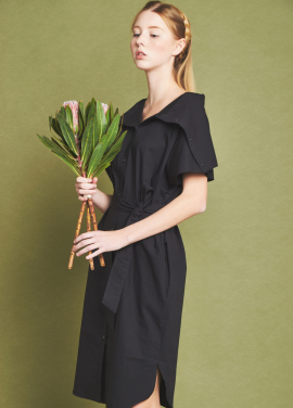 [THE LOOM/단독30%]HIGH NECK ONEPIECE