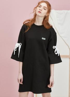 [5월 26일 예판/봄세일 20%] P PULLOVER DRESS_BK