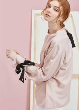 [ANEDIT 봄세일 30%]P RIBBON BLOUSE_PK