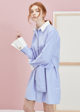 [ANEDIT 봄세일 20%]P CLERIC SHIRTS DRESS_ST