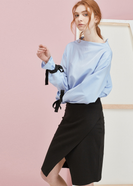 [ANEDIT 봄세일 30%]P LAYERED SKIRTS_BK