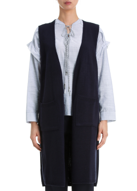 [단독20%] Knit Slit Long Cardigan
