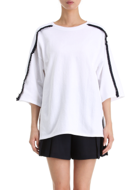 Short Sleeve Frill Detail T-Shirts [정소민 착용]