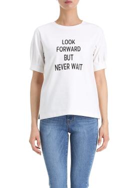 Puff Detail Lettering T-Shirts [엄현경/슬기/한선화 착용]