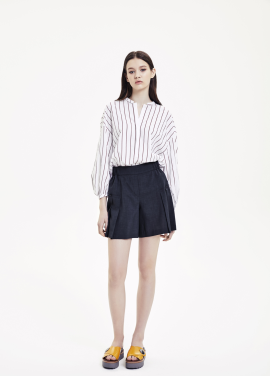 Banding Pleats Short Pants