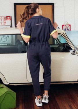 [CITLUS/SEASON-OFF!] Embroidery Pocket Jumpsuit_CHARCOAL GREY