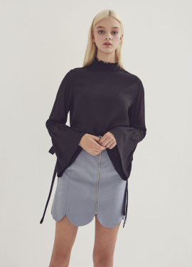 [ADDSENSE/50%SALE] SMOKE BANDING BLOUSE_BLACK