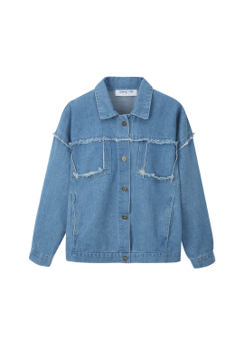 Fringe Detail Denim Jacket [태연,전혜빈 착용]