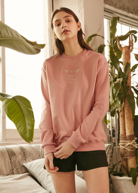 [RYUL+WAI/20%SALE]CAT SWEAT SHIRT _ PINK