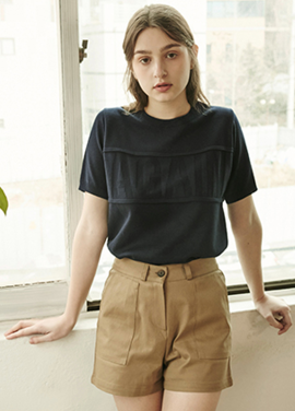 [RYUL+WAI/30%SALE]]AGAIN KNIT _ NAVY