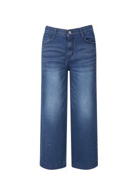 Blue Wide Denim Pants