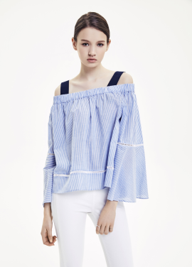 Stripe Off-Sholder Blouse