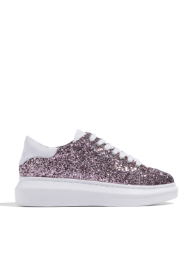 [CRUCIAL] CELEB BOLD SNEAKERS - PINK
