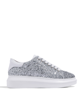 [CRUCIAL] CELEB BOLD SNEAKERS -  SILVER