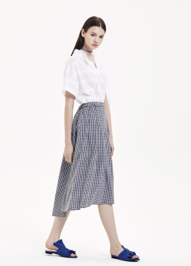 Gingham Check Pattern Long Skirts [강예원 착용]