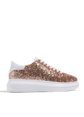 [CRUCIAL] CELEB BOLD SNEAKERS - GOLD