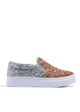 [CRUCIAL] CELEB SLIP-ON SNEAKERS - GOLD