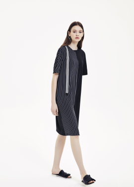 Half Stripe Dress
