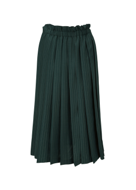 Stripe Pleats Long Skirt
