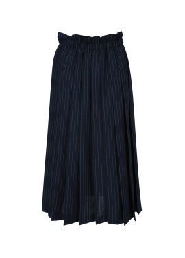 Stripe Pleats Long Skirt