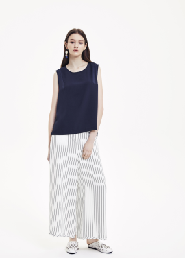 Stripe Wide Comportable Pants