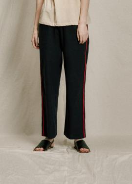 [URAGO]linen line pants