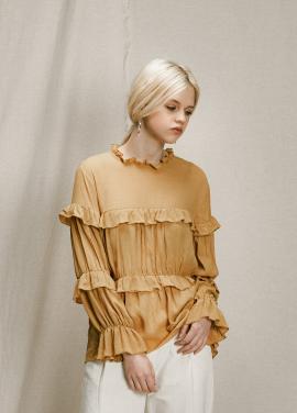 [URAGO]frill top blouse