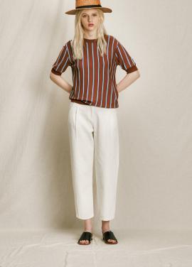 [URAGO]stripe half knit
