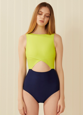 [SURFEA/10%]  Two-block swim_Yellow Green
