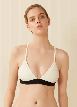 [SURFEA/10%]  Y-back bikini Top_White