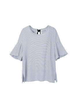 Back Ribbon Stripe T-Shirts