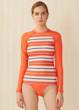 [SURFEA/10%]  Basic rashguard_Orange